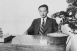 """Paiknam"" Kim Lyun-joon at the time of Dong-A Engineering Institute establishment"