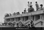11. 1989. Roof of College of Humanities Building during sit-in demonstration by the National Council of Student Representatives